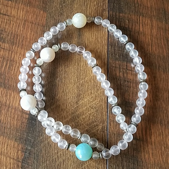 Frosted Beaded Necklace